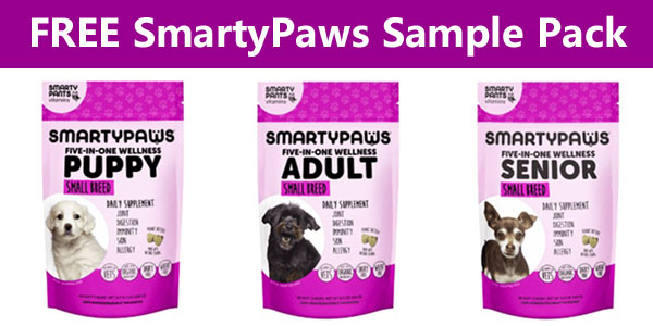 FREE SmartyPaws Dog Supplement Sample Pack