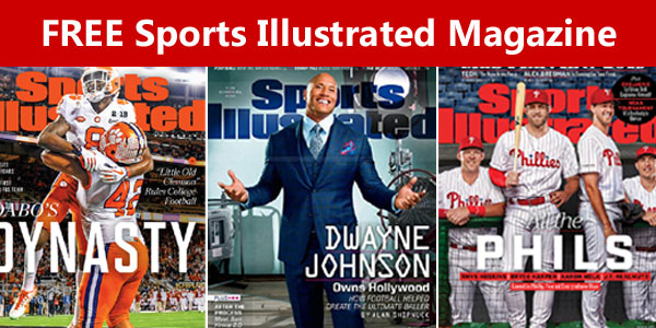 Sign up to get your Free 1-year subscription to Sports Illustrated Magazine.