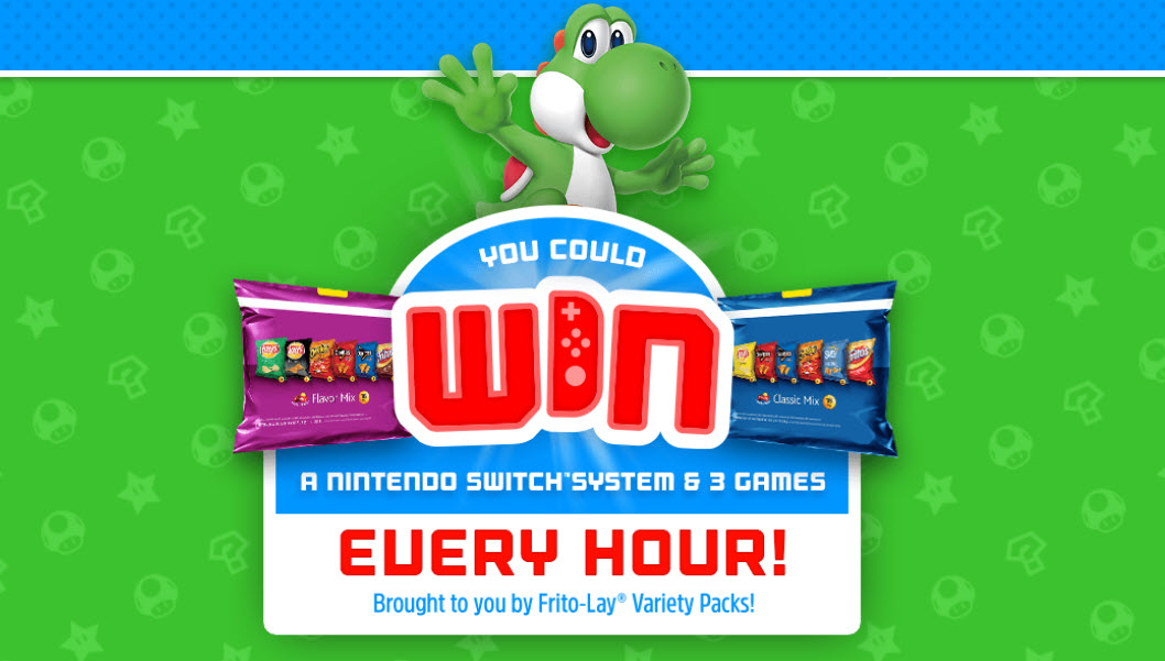HOURLY WINNERS! Frito-Lay Variety Packs Instant Win Game