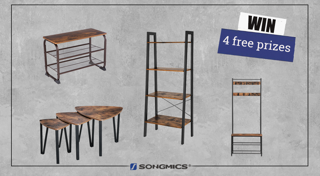 4 winners will each receive one piece of the SONGMICS vintage style furniture!