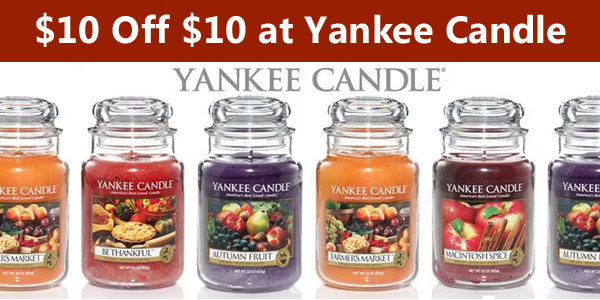 $10 off $10 at Yankee Candle Coupon - Free Product