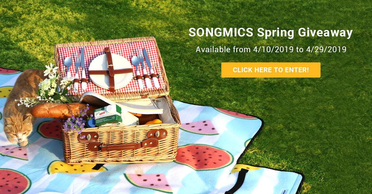 Enter for your chance to win one of twenty SONGMICS Waterproof Picnic Blanket valued at $26.40 or one of 80 discount coupons. With the soft flannel surface, ample sponge padding and waterproof PEVA backing, this picnic blanket is tear resistant and durable for extended outdoor use