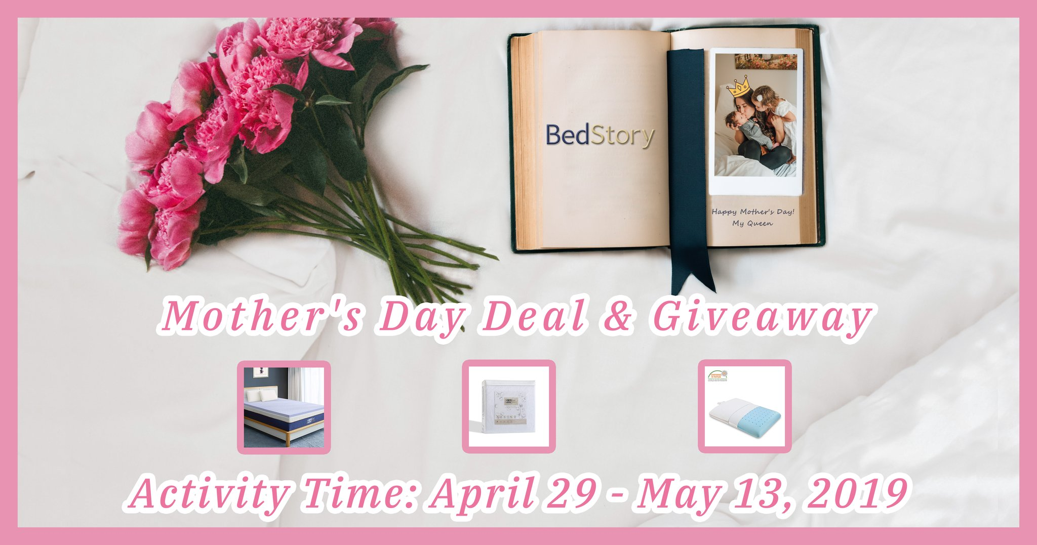 Enter for your chance to win a BedStory mattress, BedStory Memory Foam Mattress Topper and BedStory Gel Infused Memory Foam Pillows. BedStory's mattress protects against bed bugs, dust mites, pet dander, allergens and odors and hypoallergenic.