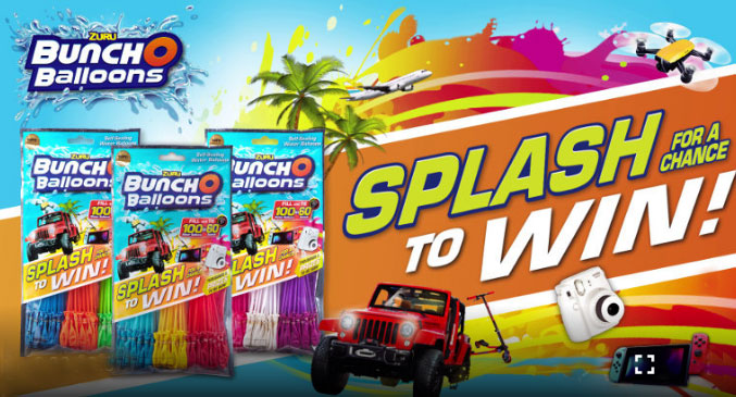 Bunch O Balloons is giving away over $1 Million in awesome summer prizes including a family getaway for 4 people and a BRAND NEW CAR!