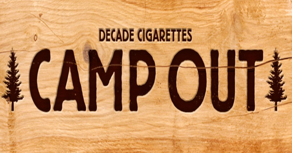 Decade Cigarettes Camp Out Sweepstakes | SweetiesSweeps com