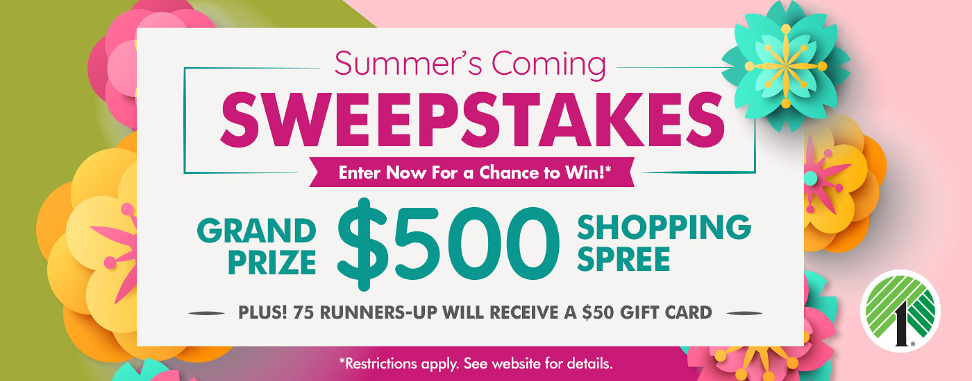 Dollar Tree is kicking off summer by giving you the chance to win one of 76 $50 Dollar Tree Gift Card prizes or the grand prize, a $500 Dollar Tree shopping spree!