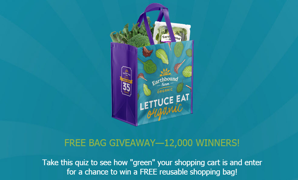 12,000 WINNERS! Win an Earthbound Farm Tote Bag