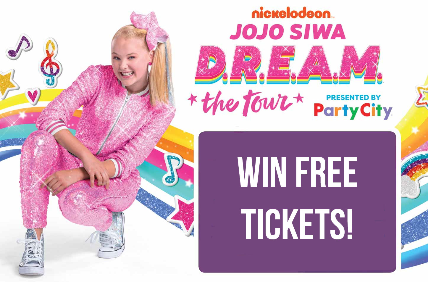 JoJo Siwa is coming to a city near you and this is your chance to win Free tickets to see her live and in person. Visit Sweeties Code page to find the code