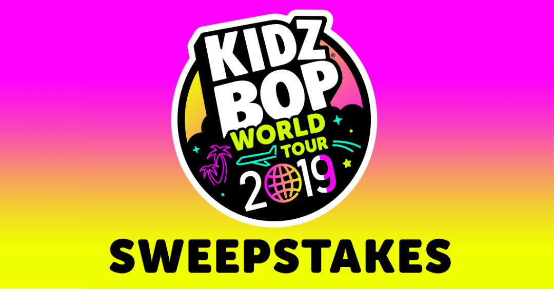 Enter for your chance to win the Grand Prize trip to see The KIDZ BOP World Tour at the Hollywood Bowl on June 1, 2019! You could also win tickets to a KIDZ BOP World Tour concert near you or great KIDZ BOP swag!