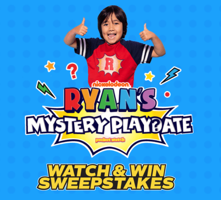 Grab today's Mytery word and enter for your chance to win the ULTIMATE Mystery Playdate with Ryan from Nickelodeon's Ryan's Mystery Playdate plus the winner will receive a BIG box of mystery toys and other Nickelodeon Swag for the winner to unbox with Ryan