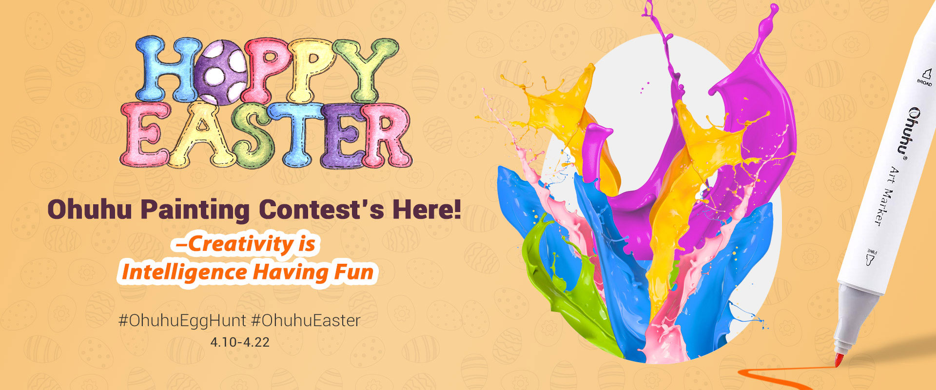 Enter the Ohuhu Easter Painting Contest for your chance to win Ohuhu Markers 120 Colors Set valued at $64.99 each. There will be 10 US Winners, 3 winners from Canada, and 3 winners from Europe.