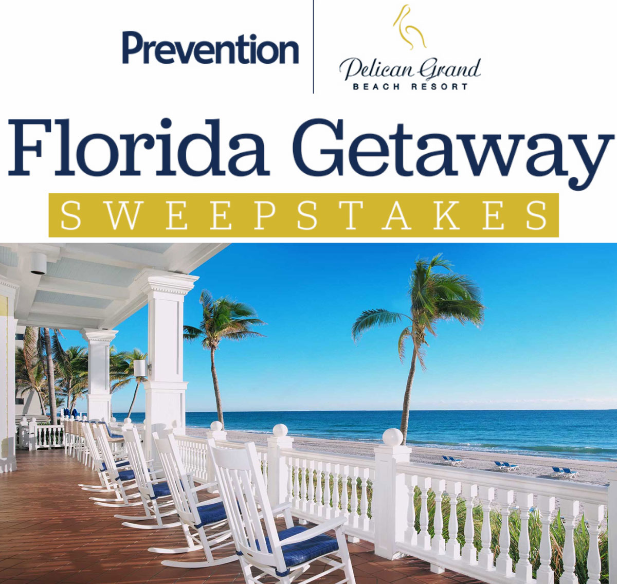 Enter for your chance to win a trip for two to the Pelican Grand Beach Resort in Ft. Lauderdale, Florida. The grand prize winner will relax and unwind for three nights in a suite and indulge at PURE Spa
