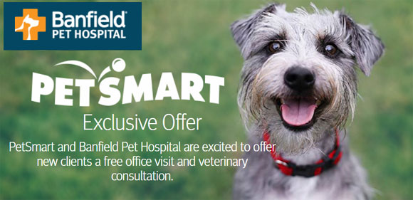 FREE PetSmart Banfield Pet Hospital Office Visit