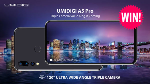 Enter for your chance to win one of 18 UMIDIGI A5 Pro smartphones. Guess the prices for A5 Pro, S3 Pro, F1 Play, Power and A3 to win free phones!
