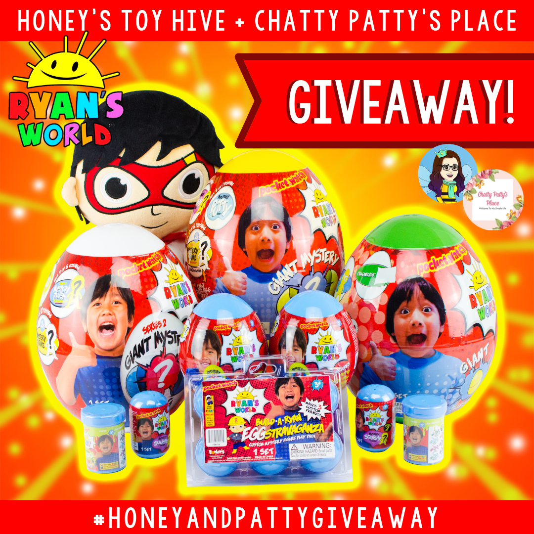 Enter for your chance to win $200 in Ryan's World Toys from Honey's Toy Hive.