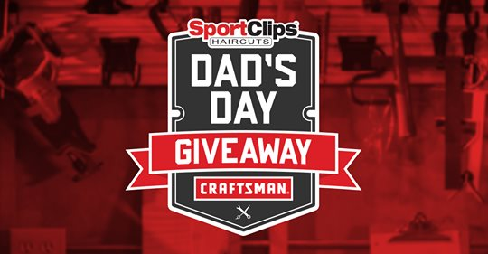 Enter for your chance to win a Craftsman tool prize package that includes a rolling tool chest power tool combo and more valued at $1,099 in the Sport Clips Dad's Day Giveaway