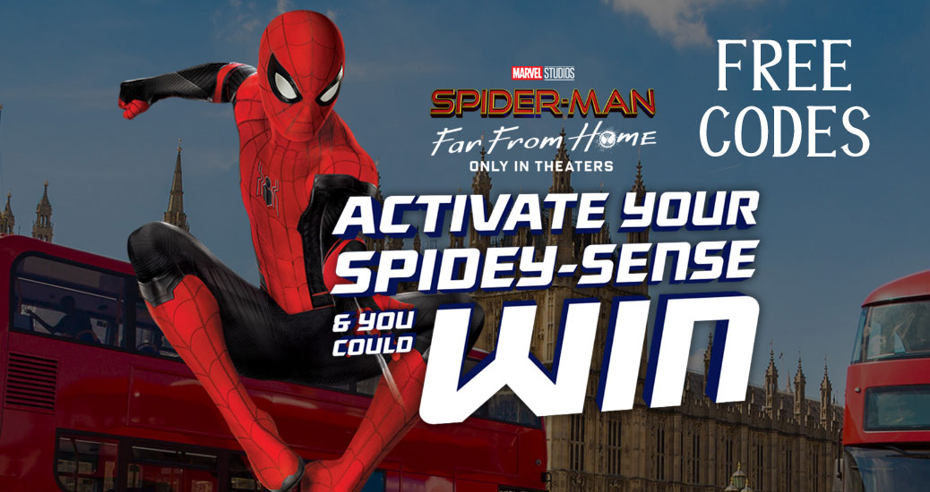 Free Doritos bag code to play the Doritos Activate Your Spidey Senses Instant Win Game for your chance to win prizes instantly and be entered to win one of three trips to Berlin, London, Paris or Prague