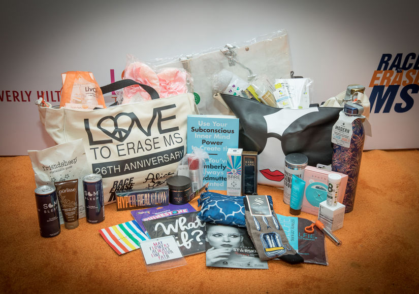 """""""Extra"""" TV is giving a Race to Erase MS Gala gift bag to 5 lucky friends. Enter for your chance to win!"""