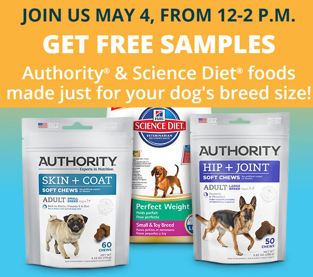 FREE Science Diet and Authority Pet Food at PetSmart