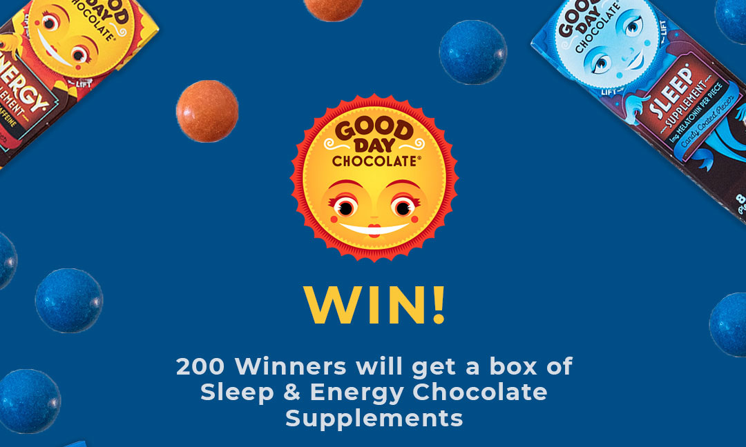 Add your referral link. Enter for your chance to win s $500 Walmart gift card! Good Day Chocolates are delicious, candy-coated chocolate supplement for Energy or Sleep are now in select Walmart stores! To spread the word they are giving one Grand Prize winner a $500 Walmart gift card and 200 others a free box of Good Day Chocolate!