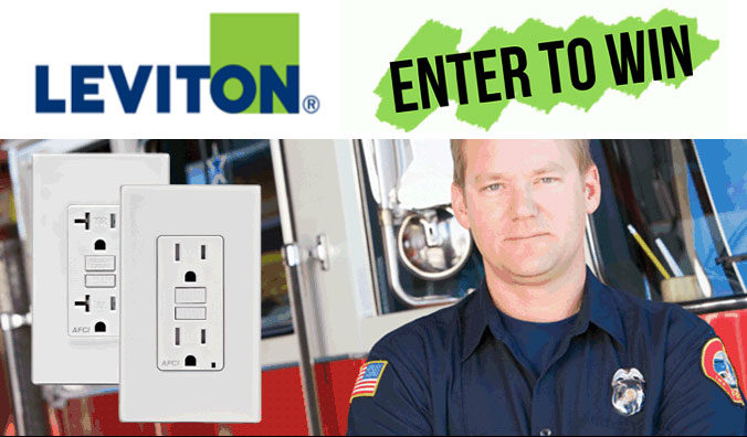 Enter Today's Homeowner 50-A-Day Electrical Safety Giveaway, sponsored by Leviton, for the chance to win an arc-fault circuit interrupter outlet! Four hundred will win - 50 per day!