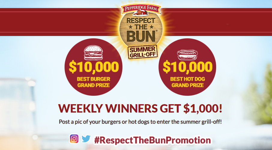 Post a pic of your burgers or hot dogs to enter the summer grill-off! Weekly winners will get $1,000. The best hot dog grand prize winner will win $10,000!
