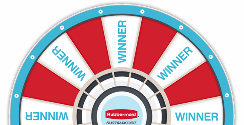 Play the Rubbermaid FastTrack Instant Win game daily for a chance to win up to a $100 Lowe's Gift Card and be automatically entered for a chance to win a $1,000 FastTrack Closet Grand Prize!