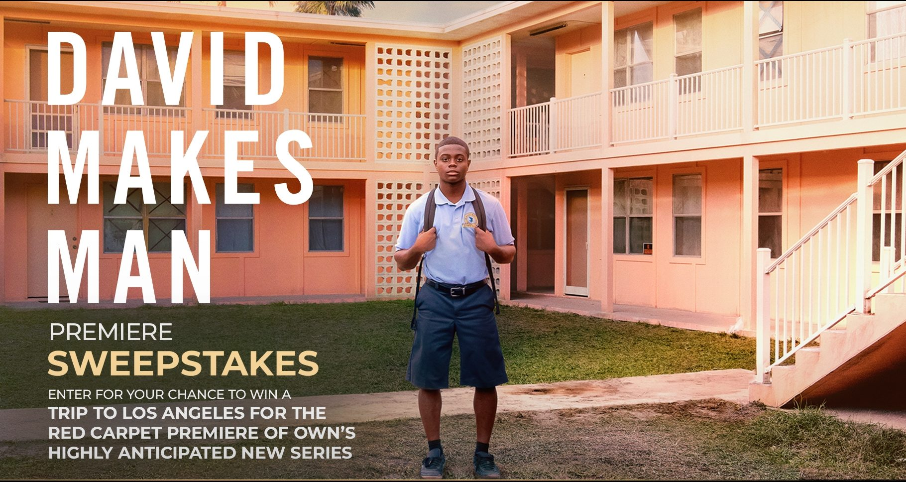 Click Here to get this week's code for your chance to win a trip to Los Angeles for the red carpet premiere of OWN's highly anticipated new series, David Makes Man