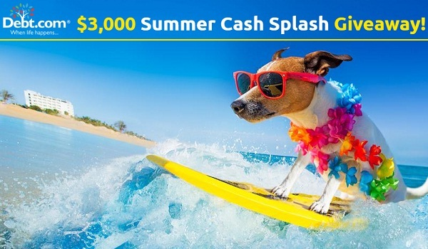 Enter the Debt.com Summer Cash Giveaway for your chance to win $1,000 in cash! Three lucky grand prize winners will each win $1,000.