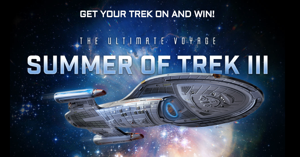 Enter the Eagle Moss Summer of Trek Sweepstakes for your chance to win an Ocean View Cabinfor 2 aboard theSOLD OUTSTAR TREK - The Cruise IV plus one of over 500 other prizes!