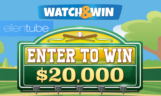 Enter Ellen's Chevy Watch & Win Contest each day for your chance to win $20,000 Cash. One winner each week will be chosen to win BIG!