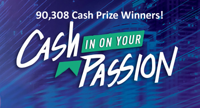 Marlboro Cash in on Your Passion Instant Win Game (90,308 Cash