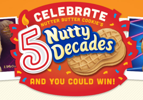 Show how you're celebrating Nutter Butter's birthday, and you could win a trip to one of six iconic destinations that made decade history!
