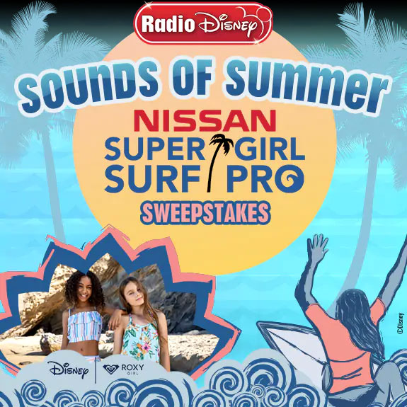 Enter the Sounds of Summer Super Girl Surf Pro Sweepstakes for your chance to win a trip for 4 to sunny Oceanside, CA. You & three guests could win VIP access to see the world's top professional female surfers compete at the Nissan Super Girl Surf Pro.