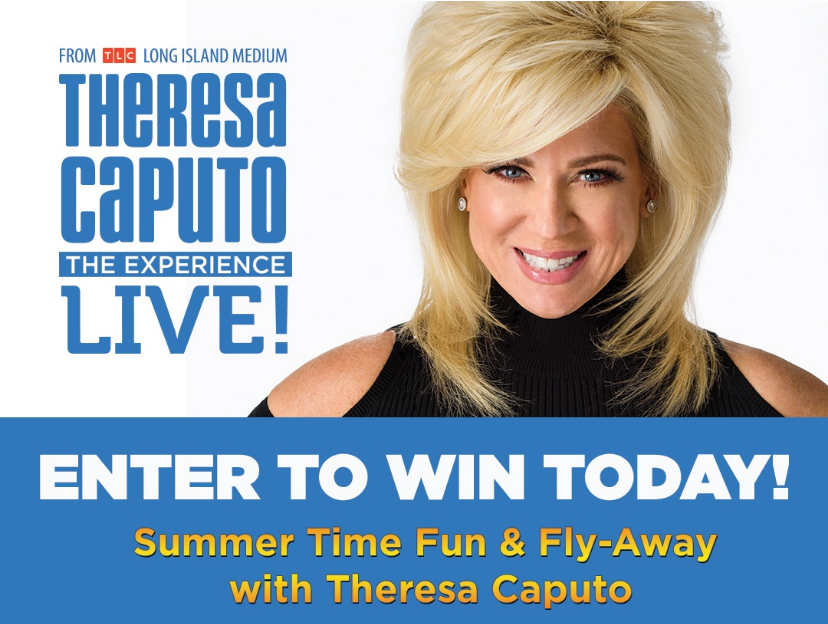 Enter for your chance to win to win a trip to a meet and greet with Theresa Caputo. Theresa is on tour this June and Mills Production wants to send you and a guest to her Live Experience in Syracuse on June 25. The Grand Prize Package includes an all-expenses paid trip for you and a guest, two tickets to the show, a private reading with Theresa, and a $500 VISA gift card!