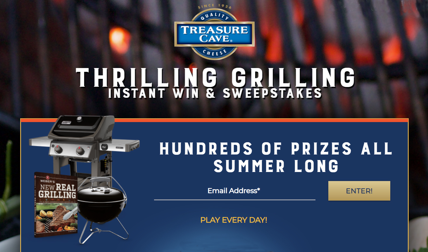 Treasure Cave Cheese Thrilling Grilling Instant Win Game