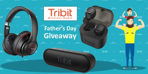 Enter Tribit Audio's  Father's Day Giveaway  for your chance to win Tribit wireless sound speakers, headphones and wireless earbuds.
