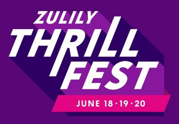 Enter the Zulily Thrill Fest Sweepstakes daily for your chance to win from a list of great daily prizes and be entered to win a $5,000 Zulily store credit