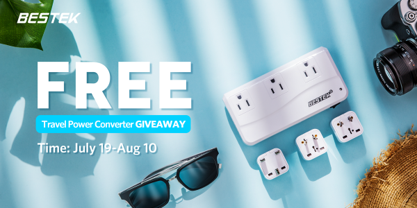 QUICK ENDING! BESTEK Power Converter and Amazon Gift Card Giveaway