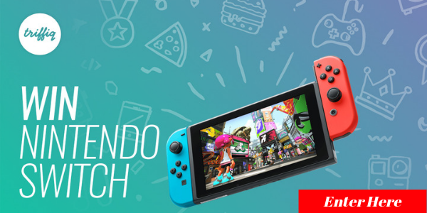 Enter for your chance to win a Nintendo Switch valued at $300.