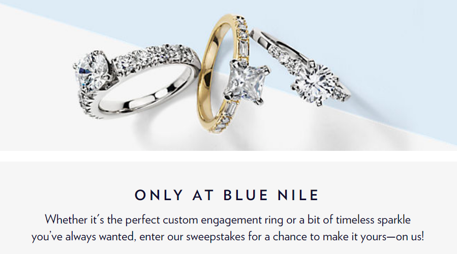 Enter for your chance to win $10,000 Blue Nile Shopping Spree.