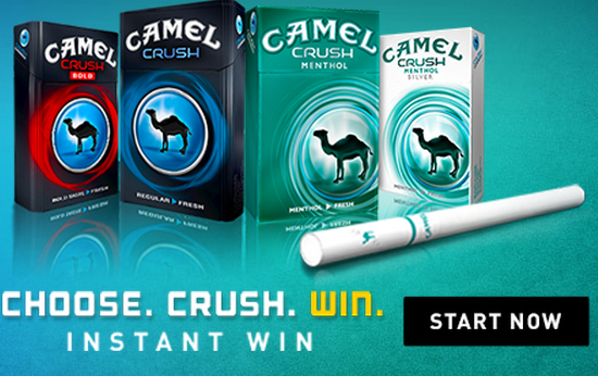 camel crush rich instant win game 25 gift card winners per day. Black Bedroom Furniture Sets. Home Design Ideas