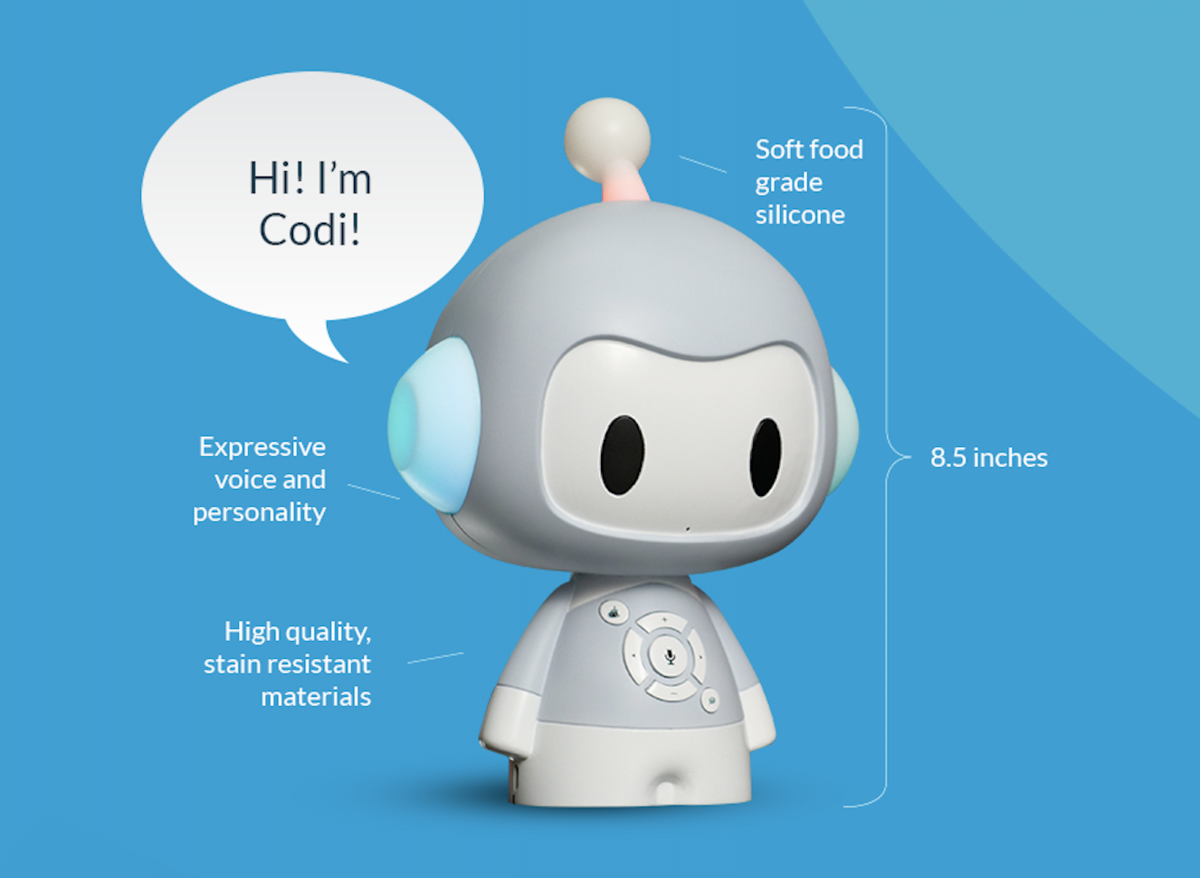 Enter for your chance to win a smart toy named Codi Robot.