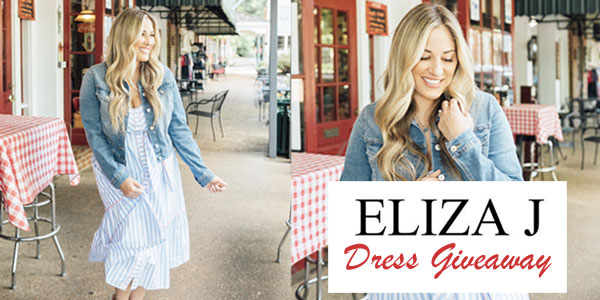 Enter for your chance to win an Eliza J Dress of your choice.
