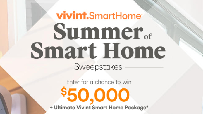 Enter the HGTV Summer of Smart Home Sweepstakes for your chance to win a Vivint Smart Home equipment package with the chance to win $50,000 in cash!