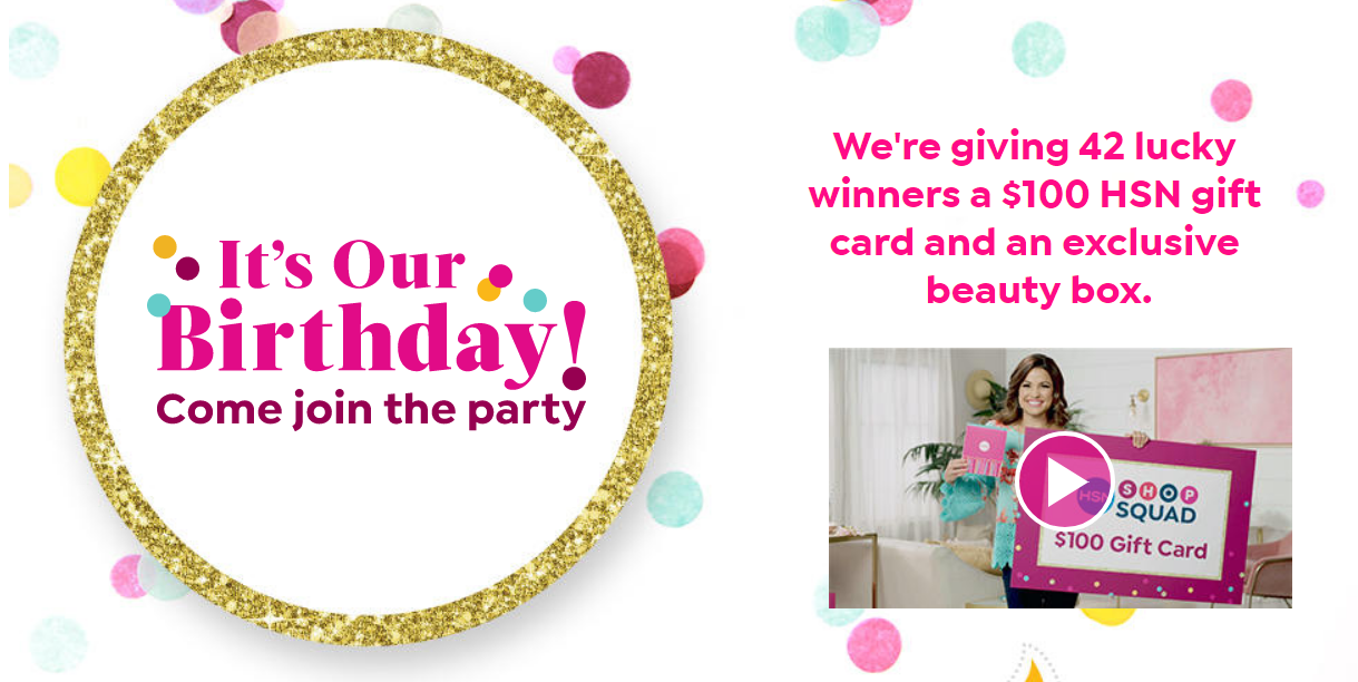 Enter HSN's 42nd Birthday Cupcake Giveaway for your chance to be one of the daily winners. A new winner is chosen everyday in July.