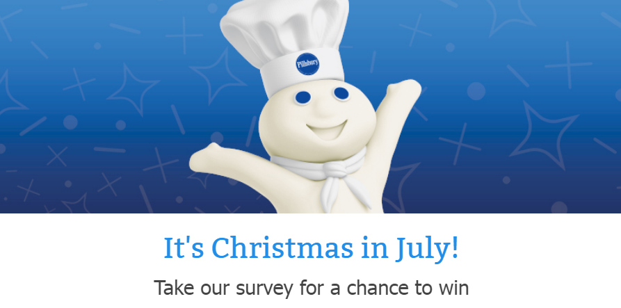 50 Winners! Enter the Pillsbury Christmas in July Sweepstakes for your chance to win a limited-edition Pillsbury apron