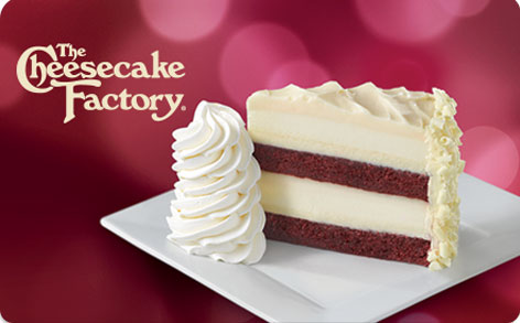 Enter for your chance to win a $10, , $25, $50 or $250 The Cheesecake Factory electronic card