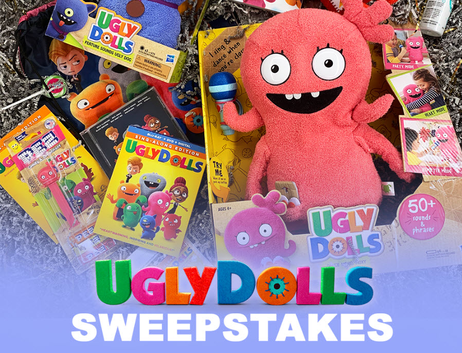 Enter the Universal Pictures Home Entertainment Sweepstakes or your chance to add wonderfully UGLYDOLLS to your family!