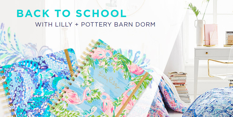 Enter for your chance to win a Lilly Pulitzer and Pottery Barn grand prize worth over $1,800. Plan to make it your brightest year yet with the Lilly Pulitzer agenda and Pottery Barn Dorm. Fill out the entry form for your chance to win.